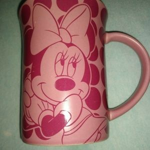 Disney Parks Minnie Mouse Pink Dots Coffee Mug Cup